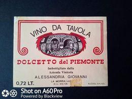 DOLCETTO DEL PIEMONTE AZIENDA ALESSANDRIA GIOVANNI - LA MORRA (CUNEO) - ETICHETTA - ÉTIQUETTE - Vino Rosso
