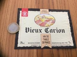 Etiquette *x «Vin De Table - Vieux Carion - BESSIERE - Méze (34) » Type 1 - Vino Rosso