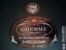 GHEMME 1964 TROGLIA - ETICHETTA - ÉTIQUETTE - Vino Rosso