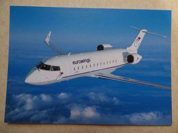EUROWINGS   CANADAIR CRJ 200    AIRLINE ISSUE / CARTE COMPAGNIE - 1946-....: Ere Moderne