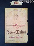 SECCO MELLINI CHIANTI SUPERIORE 1961 - ETICHETTA - ÉTIQUETTE - Vino Rosso