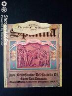 SPANNA 1974 CANTINE DEL CASTELLO DI CONTI CAV. ERMANNO - PREMIO ERCOLE D'ORO - ETICHETTA - ÉTIQUETTE - Vino Rosso