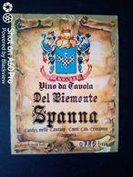 SPANNA DEL PIEMONTE - CANTINE CONTI CAV. ERMANNO - ETICHETTA - ÉTIQUETTE - Vino Rosso