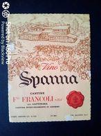 SPANNA FRANCOLI - S.S. GATTINARA CANTINA INVECCHIAMENTO DI GHEMME (NOVATA) - ETICHETTA - ÉTIQUETTE - Vino Rosso