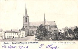 Geel Gheel - Kerk Sint-Amandus En Marktzicht (Edit P. Sledsens 1904) - Geel
