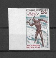 Centrafrique Timbre Non Dentelé Imperf ND JO 68 ** - Zomer 1968: Mexico-City