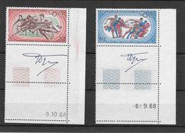 Tchad Chad Série Complète Coins Datés Signés JO 68 ** - Zomer 1968: Mexico-City