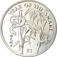 Monnaie, Sierra Leone, Dollar, 2001, British Royal Mint, Année Du Serpent, SPL - Sierra Leone