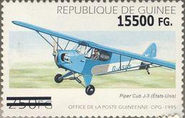 Guinea 2008, Planes, Piper Cub Overprinted 1val - Guinée (1958-...)