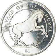 Monnaie, Sierra Leone, Dollar, 2002, British Royal Mint, Année Du Cheval, SPL - Sierra Leone
