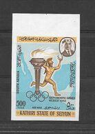 Kathiri State Seiyun Timbre Non Dentelé Imperf ND JO 68 ** - Zomer 1968: Mexico-City