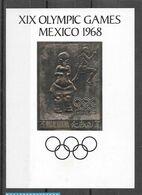 Ras Al Khaima Bloc Or Non Dentelé Imperf ND JO 68 ** - Zomer 1968: Mexico-City