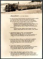 C5691 - Liedkarte - Bimmelnahnl Von Max Nacke Altenberg - Eisenbahn Dampflok - Foto Handabzug Hanich - Music And Musicians