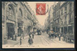 """51 -- Reims -- Le Casino Et La Rue De L""""Etape - Reims"""