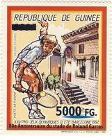 Guinea 2008, Sport, Tennis, 80th Roland Garros, 1val Overprinted - Guinée (1958-...)