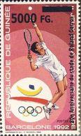Guinea 2008, Sport, Barcellona 1992, Tennis, 80th Roland Garros, 1val Overprinted - Guinée (1958-...)