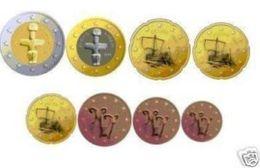 Cyprus  2020    De Volledige Set Van 8 Munten / 8 Pieces De 1ct A 2 Euro .     UNC Uit De Rol  UNC Du Rouleaux - Chipre
