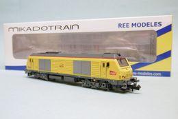 Mikadotrain / REE - LOCOMOTIVE DIESEL BB 75034 INFRA SNCF ép. VI Réf. NW-107 Neuf N 1/160 - Locomotive