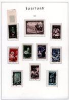 SAAR  1951 Auf Leuchtturm Blatt  Michel #  304 - 313  309-13 Geprüft - Used Stamps