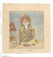 """Document Illustré Par L. BOMBLED Extrait Du Livre """" La Guerre à Madagascar """" S.M. Ranavalo III, Reine De Madagascar - Dokumente"""