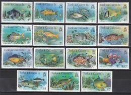 Turks- Und Caicos-Inseln 1978 - Mi.Nr. 405 - 419 I - Postfrisch MNH - Tiere Animals Fische Fishes - Vissen