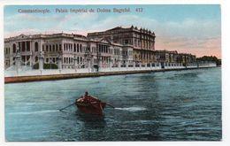 CPA - TURQUIE - EMPIRE OTTOMAN - CONSTANTINOPLE - PALAIS IMPERIAL DE DOLMA BAGTCHE - Colorisée - Vers 1920 - N°412 - X - - Turchia