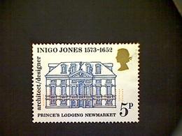 Great Britain, Scott #703, Used(o), 1973,  Indigo Jones, Prince's Lodging, 5p, Black, Blue, And Gold - Gebruikt