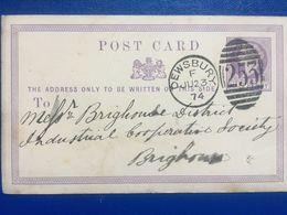 GB Victoria Pre-paid Postcard With Dewsbury Duplex 1874 - 1840-1901 (Regina Victoria)
