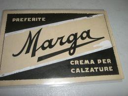 CARTONCINO PUBBLICITARIO MARGA CREMA PER CALZATURE - Plaques En Carton