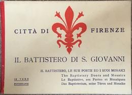 Firenze, Florence Carnet De 12 Cartes. Italie. - Firenze (Florence)