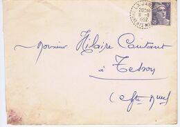 CHARENTE-MARITIME - Cachet Manuel Pointillé LA JARD Du 11 -8  1952 - Postmark Collection (Covers)