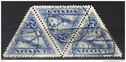 Lettonie Poste Aérienne N° 9A Filigrane Croix Gammée. Oblitération Liepaja 19 III 1936 - Latvia