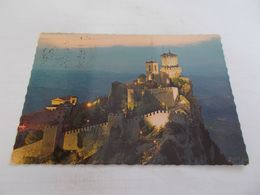 REPUBLICA DI SAN MARINO VUE GENERALE AERIENNE NOMBREUX TIMBRES AU DOS VOYAGEE 1978 - San Marino