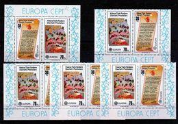 1982 Cipro Turca Turkish Cyprus EUROPA CEPT EUROPE 5 Serie Di 2v. MNH** AVVENIMENTI STORICI, HISTORICAL EVENTS - Europa-CEPT