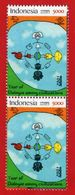 INDONESIA 2001 PRISMA STAMPS DIALOGUE DIALOGO DIALOG AMONG CIVILIZATIONS CIVILISATIONS JOINT ISSUE. V.2- MNH - Indonesia