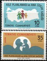 Turkey 1983 Health For Mother & Child, Familt Planning 2 Values Mi 2624-25 MNH 2008.0859 - Transport