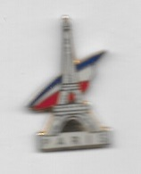 Pin's  Tricolore  Ville  PARIS  Avec  La  Tour  Eiffel  ( 75 ) - Steden