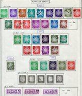 19144 ALLEMAGNE Démocratique Collection Vendue Par Page Service 1/16°, 18/27°*, 28/33 *, 34/41, 45/8   1954-58  TB - Service