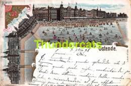 CPA OOSTENDE OSTENDE LITHO 1898 - Oostende