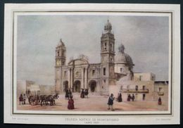 Lamina Antigua Iglesia Matriz Montevideo 1833 Dib. Lauberge Col. Assuncao 17,7 X 12 Cm. - Old Paper