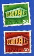 EUROPA-CEPT 1968 ALLEMAGNE 2 TIMBRES OBLITÉRÉS - Europa-CEPT