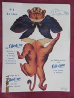 Lot De 5 Publicités Blédine à Découper - Collection Des Animaux Sauvages N° 1 à 5 - Reclame