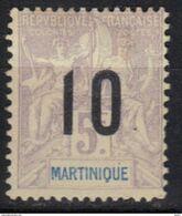 Martinique N° 81 (*) Variété De Couleur, Gris - Neufs
