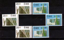 1987 Irlanda ÉIRE Ireland EUROPA CEPT EUROPE 3 Serie Di 2v. MNH** Architettura Moderna Modern Architecture - Europa-CEPT