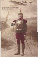 """MILITARIA.GUERRE 1914-18. CARTE PATRIOTIQUE.POUR LA FRANCE """"AVANT DE PASSER IL FAUT LE MOT D'ORDRE .""""  + TEXTE JUIN 1915 - Weltkrieg 1914-18"""