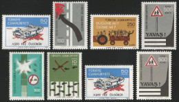 TURKEY 1977 (**) - Mi. 2435 (I + II) - 2440 & 2438 (a + B), Regular Issue With The Subject Of Traffic - Unused Stamps