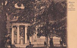 Cartolina Di Messina - Villa Mazzini Con Monumento A Maurolico - Catania