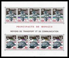 1988 Monaco EUROPA CEPT EUROPE Foglietto MNH** Trasporti E Comunicazioni Transportation Communications Souv. Sheet - 1988