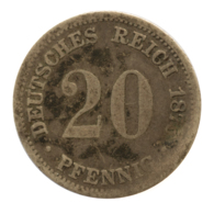GERMANY - EMPIRE - 20 Pfennig - 18755 - D - München - Silver - #DE099 - [ 2] 1871-1918: Deutsches Kaiserreich