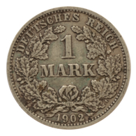 GERMANY - EMPIRE - 1 Mark - 1902 - D - München - Silver - #DE047 - 1 Mark